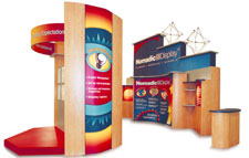 exhibition display system by superchrome