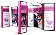 pop up banner stand by superchrome